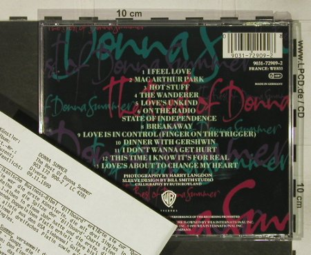 Summer,Donna: The Best Of, 13 Tr., Facts, WB(), D, 1990 - CD - 92545 - 12,50 Euro
