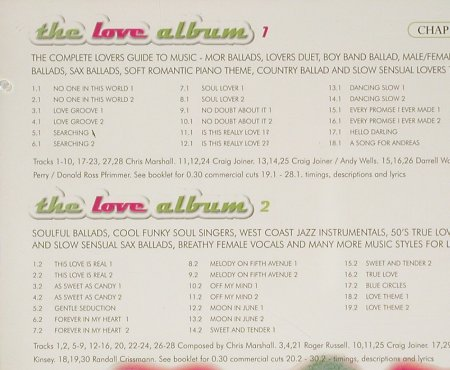 V.A.The Love Album: Chappel recorded music library, Chappel(Chap 233), UK, 1998 - 2CD - 93218 - 10,00 Euro