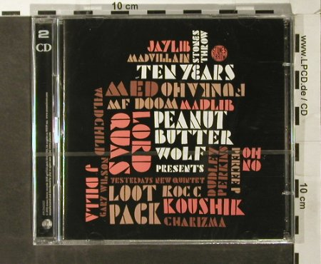 Peanut Butter Wolf   pres.: Stones Throw Ten Years, FS-New, Stone Throw(), , 2006 - 2CD - 93525 - 10,00 Euro