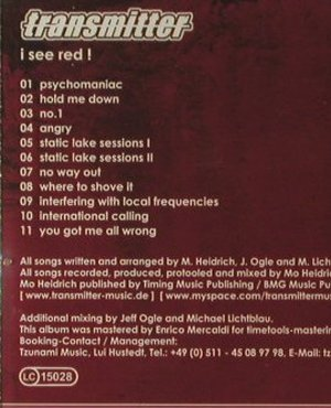 Transmitter: I See Red, FS-New, Artist Stadion Rec(), , 2007 - CD - 96085 - 7,50 Euro