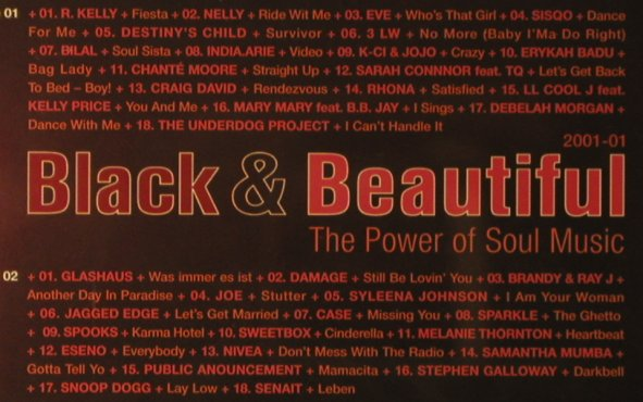 V.A.Black & Beautiful 2001-01: The Power Of Soul Music, 36Tr., Polystar(585 271-2), D, 2001 - 2CD - 96125 - 7,50 Euro