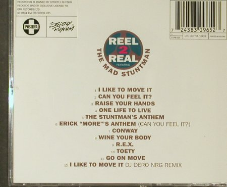 Real 2 Real Feat.Mad Stuntman: Move It!, Positiva(8 30965 2), NL, 1994 - CD - 96464 - 7,50 Euro