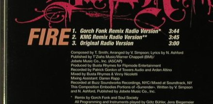 Busta Rhymes: Fire*3 -Promo- Gorch Fonk Remix,, Elektra(02171), D, 00 - CD5inch - 96614 - 3,00 Euro