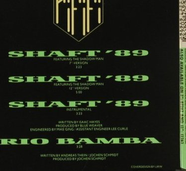 Rififi: (Theme From) Shaft'89*3+1, BCM(20262), D,  - CD5inch - 97292 - 3,00 Euro