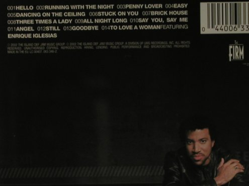 Richie,Lionel: Encore, Island(063 346-2), EU, 2002 - CD - 98212 - 7,50 Euro