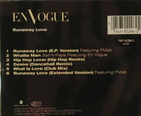 En Vogue: Runaway Love, EP 6 Tr., Atlantic(), D, 93 - CD - 98538 - 5,50 Euro