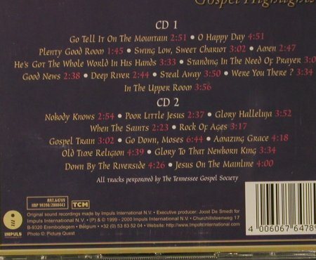 V.A.O Happy Day: Gospel Highlights, IMP(), D, 1999 - 2CD - 99056 - 5,00 Euro
