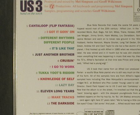 US3: Hand On The Torch, Blue Note(80883 2), NL, 1993 - CD - 99129 - 7,50 Euro