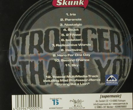 Skunk: Stronger Than You, Supermusic(), D, 00 - CD - 53900 - 7,50 Euro