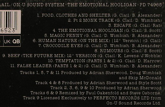 Clail,Gary: Emotional Hooligan, Perfecto(), D, 91 - CD - 56031 - 7,50 Euro