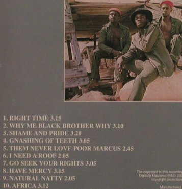 Mighty Diamonds: Right Time, Calroline(), US, 2001 - CD - 56870 - 6,00 Euro