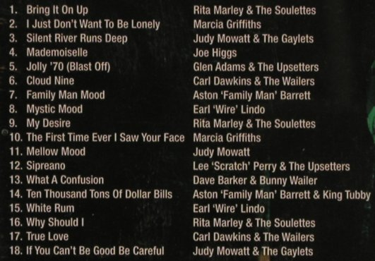 V.A.Wailers, Family & Friends: Rita Marley...Judy Mowatt,18 Tr., Connoisseur(), UK, 01 - CD - 58728 - 6,00 Euro