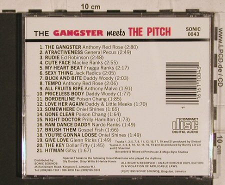 Gangster, the: meet the Pitch, Sonic Sounds(0043), , 1993 - CD - 61404 - 7,50 Euro