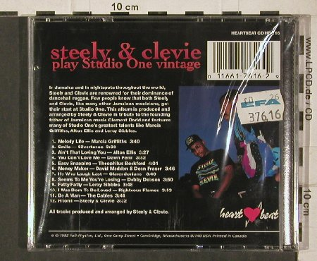 Steely & Clevie: Play Studio One Vintage, FS-New, Heartbeat(HB 116), CDN, 1992 - CD - 81291 - 10,00 Euro
