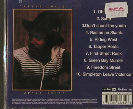 Tapper Zukie: Tapper Roots '79, FS-New, Caroline/FrontLine(), US, 01 - CD - 91867 - 10,00 Euro
