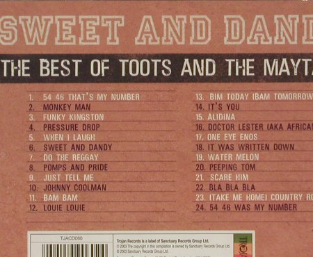 Toots & The Maytals: Sweet And Dandy-Best Of, FS-New, Trojan(TJACD060), UK, 2003 - CD - 93000 - 9,00 Euro