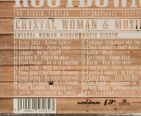 Rootdown: Crystal Woman & Musik Two Ridd, Rootdown Rec.(), EU,FS-New, 2005 - CD - 93164 - 10,00 Euro