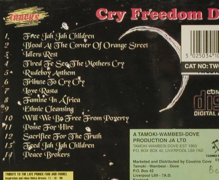 Prince Far 1: Cry Freedom DUB, Tamoki-Wambesi-Dove(), A, 2005 - CD - 93747 - 11,50 Euro