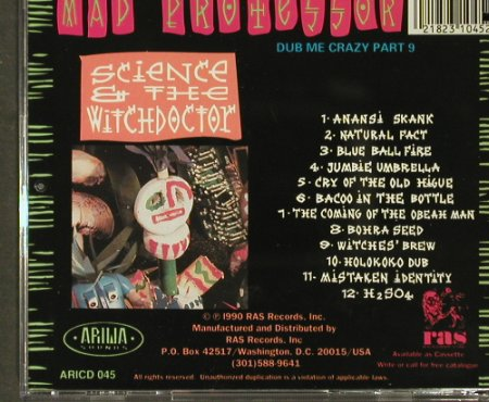 Mad Professor: Science &the Witchdoctor, co, Ariwa RAS(ARIcd 045), US, 1990 - CD - 93962 - 12,50 Euro