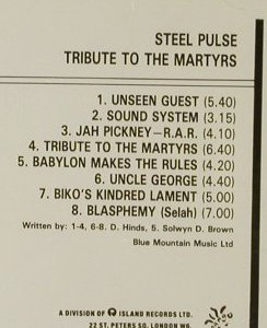 Steel Pulse: Tribute To The Martyrs, Island(846 566-2), D, 1979 - CD - 95261 - 10,00 Euro