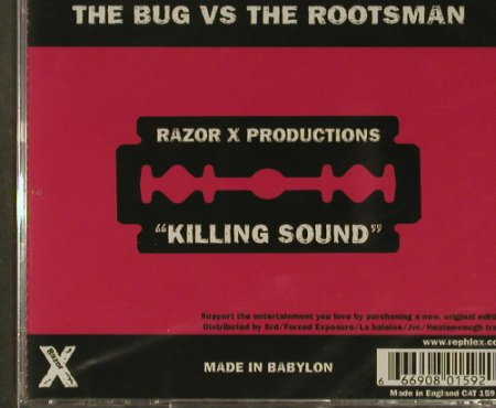 Razor X: Killing Sound, FS-New, Rephlex(CAT 159 CD), UK, 2006 - 2CD - 96729 - 10,00 Euro