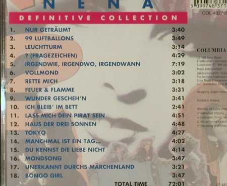 Nena: Definitive Collection, Columbia(483715 2), NL, 1996 - CD - 54622 - 10,00 Euro