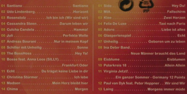 V.A.Chart Show: Deutsche-& Pop-Hits, FS-New, RTL(600753424018), EU, 2013 - 2CD - 81620 - 5,00 Euro