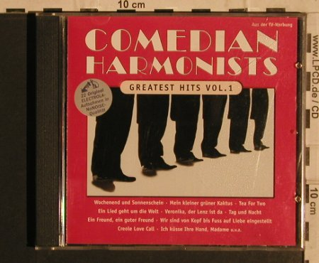 Comedian Harmonists: Greatest Hits Vol.1, 22Tr., EMI(4 93717 2 9), D, 1998 - CD - 82068 - 5,00 Euro
