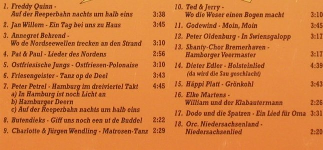 V.A.Echt Norddeutsch: Godewind,Jan Willem,Petrel..., da music/Brook(876545-2), D, 1996 - CD - 82865 - 5,00 Euro