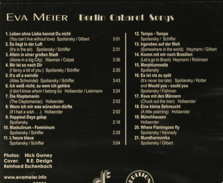 Meier,Eva: Berlin Cabaret Songs, FS-New, Duophon(), D, 2005 - CD - 93731 - 10,00 Euro