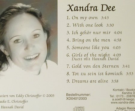 Dee,Xandra: On my Own, Adagio(), D, 2003 - CD - 93774 - 10,00 Euro