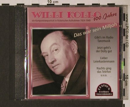 Kollo,Willi: Das war Sein Milljöh, Duophon(), D, FS-New, 2004 - CD - 94413 - 7,50 Euro