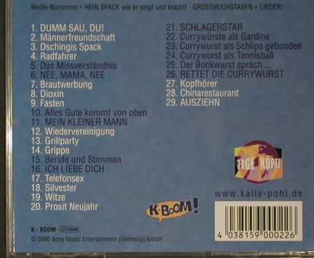Kalle Pohl: Hein Spack, Sony(59 0002-2), , 2000 - CD - 97852 - 5,00 Euro