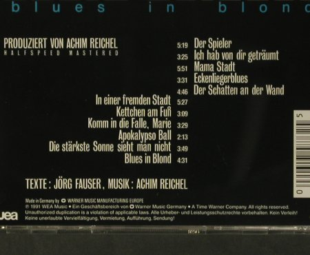 Reichel,Achim: Blues In Blond, WEA(), D, 1991 - CD - 99112 - 10,00 Euro