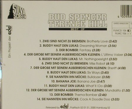 Bud Spencer / Terence Hill: Best of ,14 Tr. By Oliver Onions, Edel(), D, 1992 - CD - 51647 - 10,00 Euro