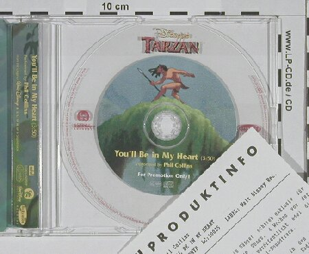 Tarzan: You'll be in my Heart, Edel(0100735DNYP), D, 99 - CD5inch - 52037 - 1,50 Euro