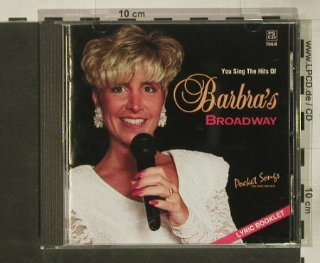 Barbra's Broadway: You sing the His of - Karaoke, Pocket Songs(PSCD 1144), US, 1994 - CD - 54234 - 10,00 Euro