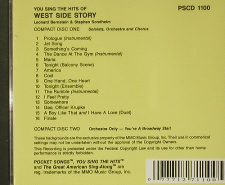 West Side Story: You sing the Hits - Karaoke, Pocket Song(PSCD 100), US,  - 2CD - 54580 - 10,00 Euro