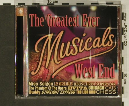 V.A.The Greatest Ever Musicals: West End,20Tr., Metron.(), UK, 00 - CD - 55009 - 4,00 Euro