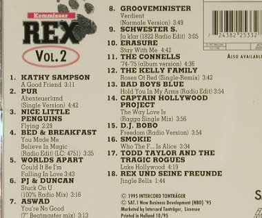 Kommissar Rex Vol.2: 18 Tr. V.A., Ost, Interc.(), D, 94 - CD - 57276 - 5,00 Euro