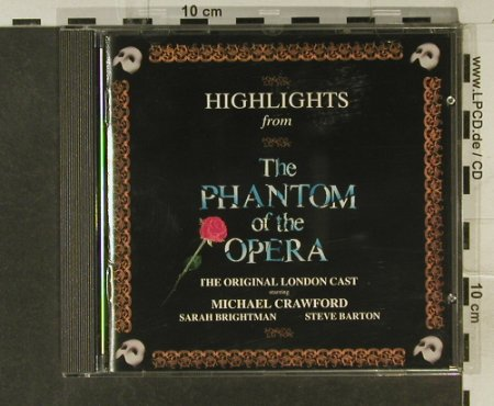 Phantom Der Oper: Highlights fr.(Crawford,Brightman), Polydor(831 563-2), D, 1987 - CD - 59129 - 7,50 Euro
