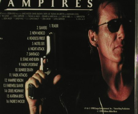 Vampires: Music from,16Tr. By John Carpenter, Milan(), EU, 98 - CD - 60286 - 4,00 Euro