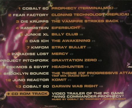 Wing Commander: Prophecy - V.A.13Tr., Cinerama(), D, 97 - CD - 60952 - 2,50 Euro