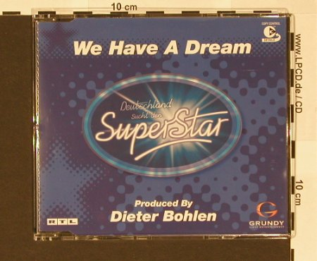 Deutschland sucht den Superstar: We have a dream*3, BMG(), EU, 02 - CD5inch - 61086 - 2,50 Euro