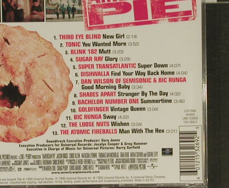 American Pie: Music from, Universal(), EU, 99 - CD - 63795 - 5,00 Euro