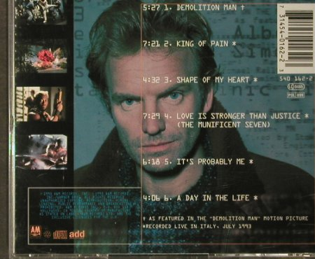 Demolition Man: 6 Tr.(Sting), AM(), , 1993 - CD - 63934 - 5,00 Euro