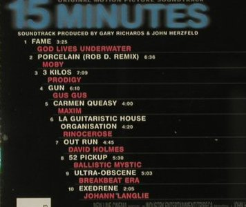 15 Minutes: Original Soundtrack, Milan(), D, 01 - CD - 64236 - 5,00 Euro