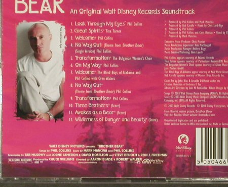 Brother Bear: by Mark Mancina/Phil Collins, Walt Disney(), , 2003 - CD - 67724 - 10,00 Euro