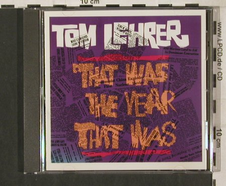 Lehrer,Tom: That was the year that was, Reprise(6179-2), US,Ri, 1965 - CD - 80223 - 7,50 Euro