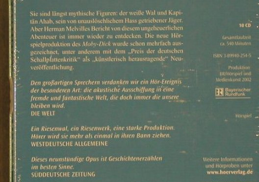 Melville,Herman: Moby-Dick, FS-New, Hörverlag(), D, 2002 - 10CD - 90261 - 15,00 Euro